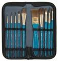 Набор кистей Pinax Creative, пони, с короткой ручкой, 10 шт.