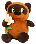 Мягкая игрушка Мульти-Пульти Винни-Пух с цветком 25 см