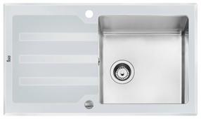 Врезная кухонная мойка TEKA Lux 1C 1E 86х51см нержавеющая сталь