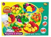 Масса для лепки ABtoys Радуга Фрукты и ягоды 19 предметов (043462)