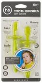 Набор щеток Happy Baby Silicone tooth brushes set от 6 месяцев