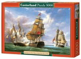 """Пазл Castorland Copy of Combat between the French Frigate """"La Canonniere"""" and the English Vessel """"The Tremendous"""" (C-300037), 3000 дет."""
