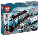Электромеханический конструктор Lepin Train Series 21006 Товарный поезд Майерск