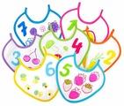 Пома Набор клеенчатых слюнявчиков (7 шт)