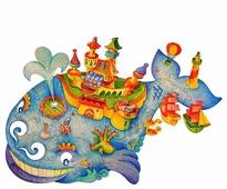 Пазл Woody Чудо-Юдо Рыба-Кит (556), 38 дет.