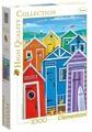 Пазл Clementoni High Quality Collection Радужные пляжные кабинки (39327), 1000 дет.