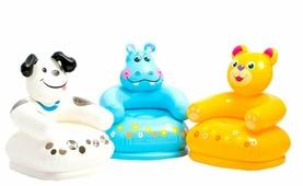 Надувное детское кресло Intex Веселые животные 68556