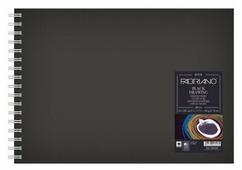 Скетчбук для зарисовок Fabriano BlackDrawingBook 29.7 х 21 см (A4), 190 г/м², 40 л.