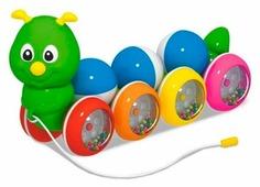 Каталка-игрушка Стеллар Гусеница с шариками (01391)