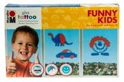 Набор для творчества Marabu Glas Tattoo Funny Kids 040800080 2 цв. (100 мл.)