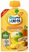 Пюре ФрутоНяня фрукты и злаки. Яблоко, банан, груша + мультизлак (с 6 месяцев) 130 г, 1 шт.