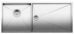 Интегрированная кухонная мойка Blanco Zerox 400/550-T-IF InFino 101.5х44см нержавеющая сталь