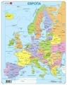 Рамка-вкладыш Larsen Политическая карта Европы (A8), 37 дет.
