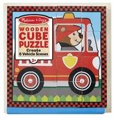 Кубики-пазлы Melissa & Doug Vehicles Cube Puzzle