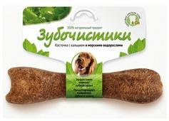Лакомство для собак Зубочистики Косточка с кальцием, морские водоросли для средних пород