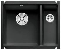 Врезная кухонная мойка Blanco Subline 350/150-U Ceramic PuraPlus InFino 56.7х45.6см керамика