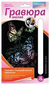Гравюра LORI Красивые бабочки (Гр-226) цветная основа с голографическим эффектом