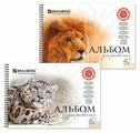 Альбом для рисования BRAUBERG Благородные кошки 29.7 х 21 см (A4), 110 г/м², 40 л.
