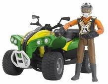 Квадроцикл Bruder с гонщиком (63-000) 1:16 16 см