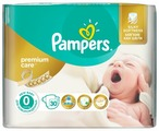 Pampers подгузники Premium Care 0 (1-2,5 кг) 30 шт.