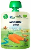 Пюре Fleur Alpine морковь (с 4 месяцев) 90 г, 1 шт