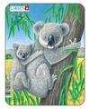 Рамка-вкладыш Larsen Коала Слон Тигр Панда (V4), 8 дет.