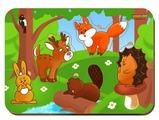 Рамка-вкладыш Woodland Лесные животные (011504), 5 дет.