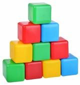 Кубики Пластмастер цветные 14001