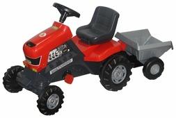 Педальная машинка Полесье Каталка-трактор с педалями Turbo с полуприцепом [52681]