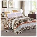 Плед Hongda Textile Леопард белый, 180 x 200 см