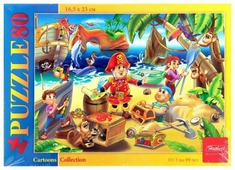 Пазл Hatber Cartoons Collection Остров сокровищ (80ПЗ5_10714), 80 дет.