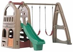 Домик Step2 Playhouse Climber & Swing Extension