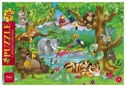Рамка-вкладыш Hatber Cartoons Collection В джунглях (26ПЗ4_10719), 26 дет.
