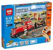 Электромеханический конструктор Lepin Cities 02039 Красный грузовой поезд