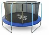 Каркасный батут Start Line Fitness 12FT с внутренней сеткой и лестницей 366х366 см