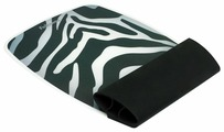 Коврик Fellowes SILICONE WRIST ROCKER AND MOUSE PAD ZEBRA FS-93623