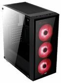 Компьютерный корпус AeroCool Quartz Black/red