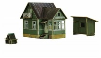 Сборная модель Умная Бумага Летний домик (эпоха IV) 1966-1985 СССР (300) 1:87