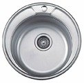 Врезная кухонная мойка Ledeme L84545-6 45х45см нержавеющая сталь