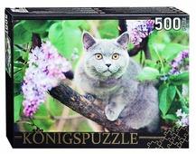 Пазл Рыжий кот Konigspuzzle Британская голубая кошка (ГИК500-8303), 500 дет.