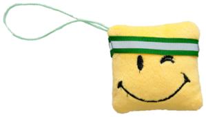 Мягкая игрушка Fancy Смайлик квадрат с зеленой лентой 7 см