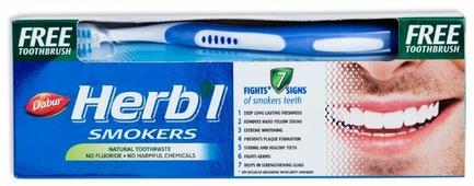 Зубная паста + щетка Dabur Herb'l Smokers Natural