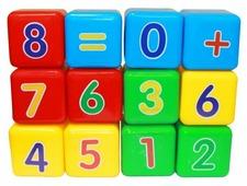 Кубики Пластмастер Первая математика 14046