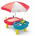 Песочница-столик Little Tikes с зонтом 2 зоны