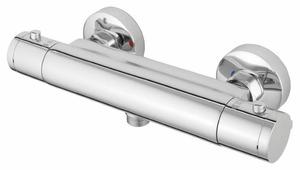 Смеситель для душа Rubineta Thermo-12 двухрычажный с термостатом хром