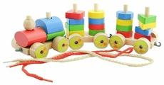 Каталка-игрушка Мир деревянных игрушек Паровозик (Д163)