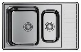 Врезная кухонная мойка OMOIKIRI Sagami 79-2 IN-L 79х50см нержавеющая сталь