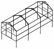 Каркас теплицы Новатор -5 233х250см