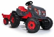 Веломобиль Smoby Трактор педальный XXL с прицепом