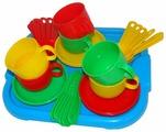 """Набор посуды Полесье """"Минутка"""" с подносом на 6 персон 9547"""